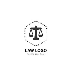 law logo template design law logo with modern vector image
