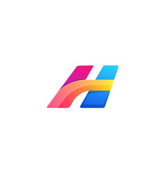 letter h colors logo template concept vector image