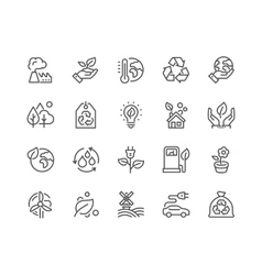 Line Eco Icons vector image