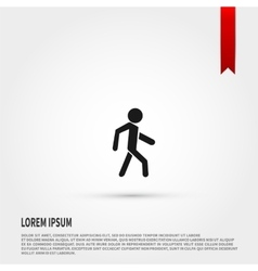 Man icon Pedestrian symbol Flat design style vector image