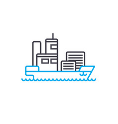 maritime transport thin line stroke icon vector image