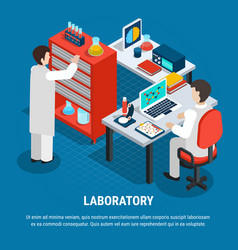 Medical laboratory isometric concept vector