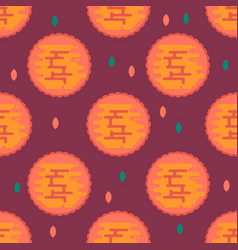 Moon cookie pattern vector