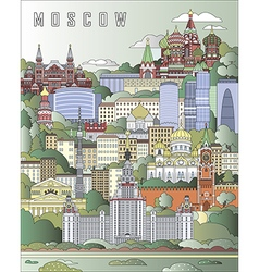Moscow City Poster vector