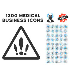 Multiple problems icon with 1300 medical business vector