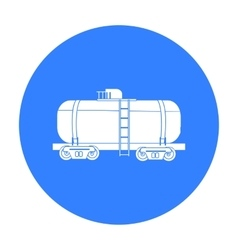 Oil tank car icon in black style isolated on white vector