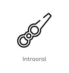 Outline intraoral icon isolated black simple line vector
