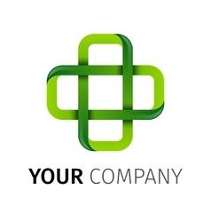 Pharmacy Green cross logo vector