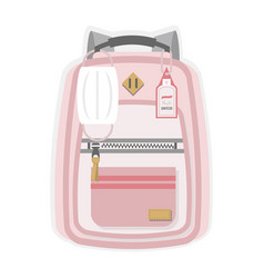 Pink kids new normal back to school backpack vector