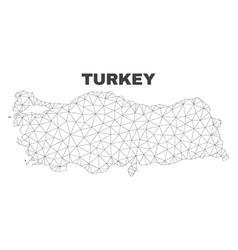 Polygonal mesh turkey map vector
