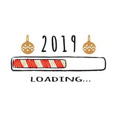 Progress bar with inscription 2019 loading vector