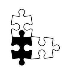 Puzzle pieces icon image vector