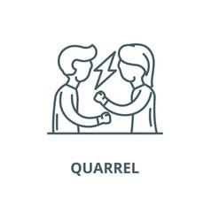 quarrel line icon linear concept outline vector image