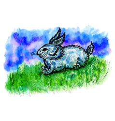 Rabbit Sketch2 vector image