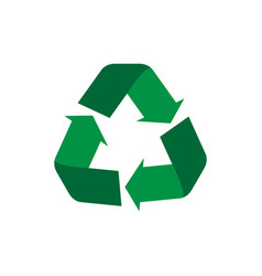 recycle symbol flat icon concept world vector image