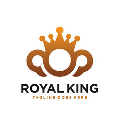 royal crown business logo vector image