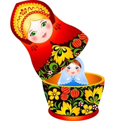 Russian tradition matryoshka doll vector image