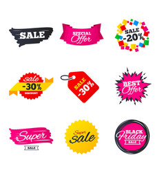 Sale banners templates best offers discounts vector