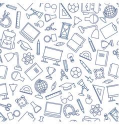 school education seamless pattern education vector image