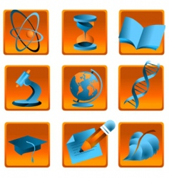 science and education icon vector image