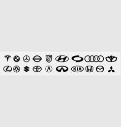 Set most popular brands logo cars vector