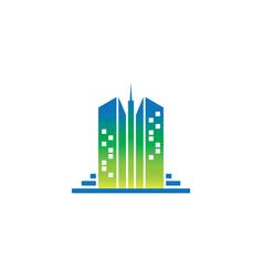 skyscraper building logo vector image