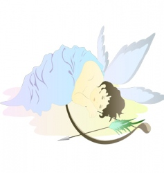 sleeping cupid vector image