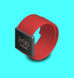 smart watch in 3d vector image