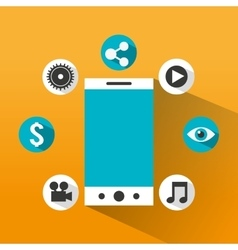 Social media marketing icon vector