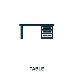 table icon line style icon design ui vector image