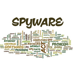 The end of spyware text background word cloud vector