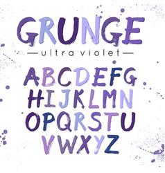 ultra violet grunge font modern brush lettering vector image