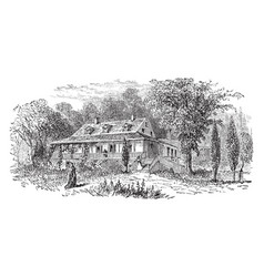 Van cortland manor house vintage vector