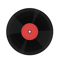 vinyl record isolated on white background image vector image