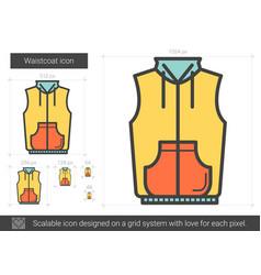 waistcoat line icon vector image