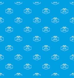 war axe pattern seamless blue vector image