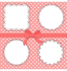 Collection of vintage designed lace frames vector image vector image