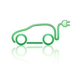 electric powered car symbol vector image vector image