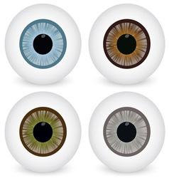 Eye ball set vector image