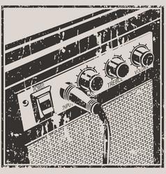 guitar amplifier retro style vector image