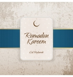 Ramadan kareem eid mubarak greeting banner vector