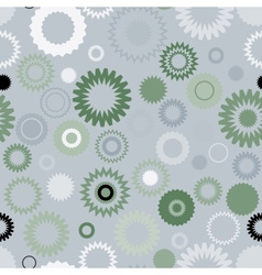 Seamless gear pattern vector image vector image