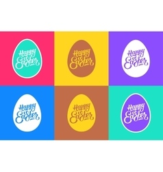 Set of flat easter greeting cards vector image vector image