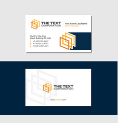 White business card with 3d squares vector