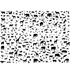 animals mix vector image
