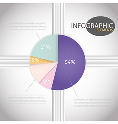 Circle chart templates Infographic percent pie vector image