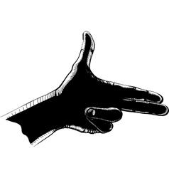 fingers shoot black vector image vector image