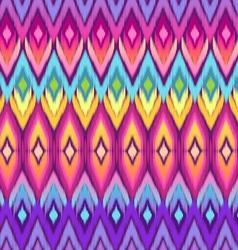 rainbow ikat pattern vector image