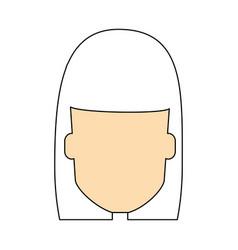 Woman faceless cartoon vector