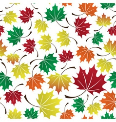 colorful leaves seamless pattern eps10 vector image vector image